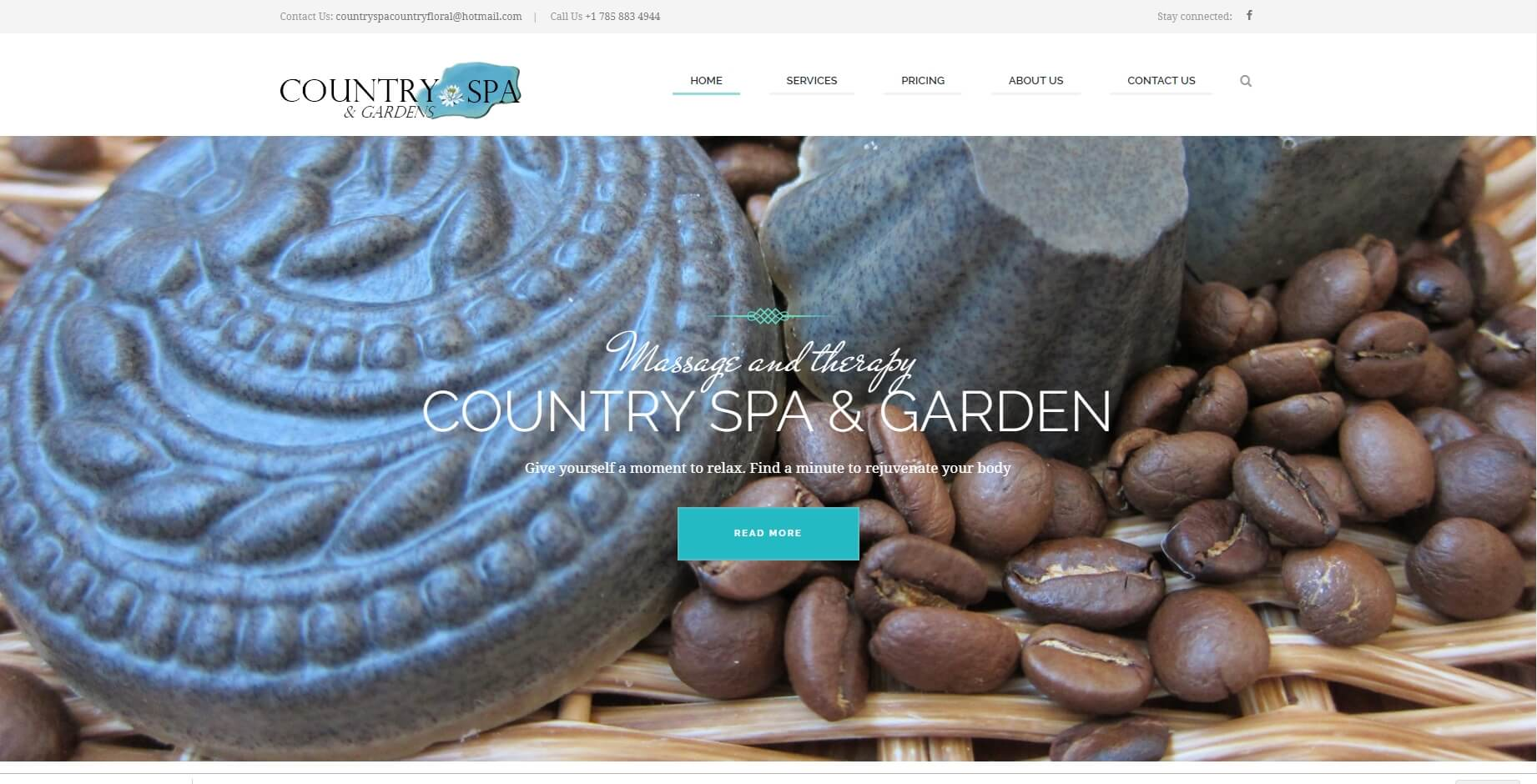 Country Spa and Floral Website Design